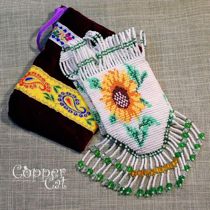 "Gerdan ""Sunflowers"". Seed beads jewelry. Handcraft. Ukrainian folk art. Czech seed beads. Traditional Folk necklace."