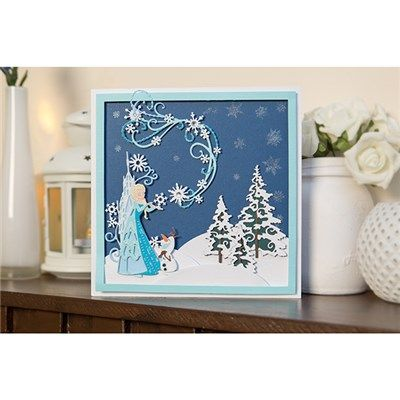 Disney Frozen Icy Swirl & Snowflake Flourish Papercraft Die Cutter (376378) | Create and Craft