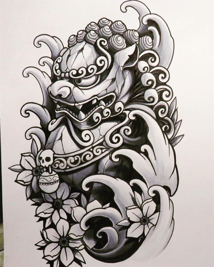 12 Japanese Lion Tattoo Designs And Ideas Petpress In 2020 Foo Dog Tattoo Foo Dog Tattoo Design Japanese Tattoo