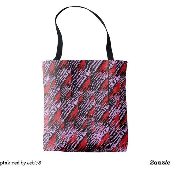 pink-red tote bag ($20) ❤ liked on Polyvore featuring bags, handbags, tote bags, handbags totes, white handbags, red tote, pink tote and red tote handbags
