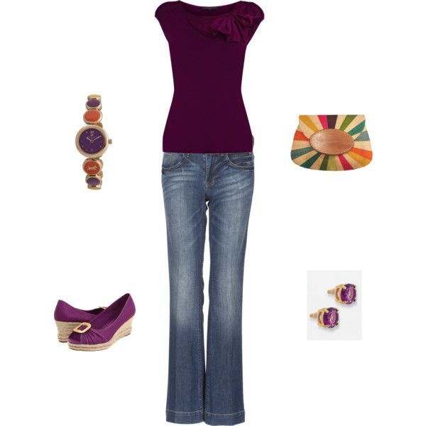 Outfit: Training Outfits, Outfits Purple, Shirts Outfits, Deep Colors, Purple Shirt Outfits