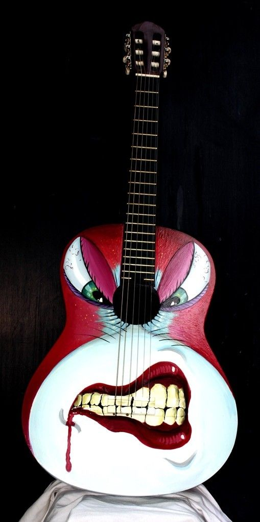 Davide Ricchetti Custom Guitar Hungry Airbrush And Handpaint On Classical