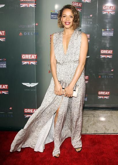 'Selma' star Carmen Ejogo arrives at the  Great British film reception honoring the British nominees of the 87th Annual Academy Awards  on February 20, 2015 in West Hollywood.