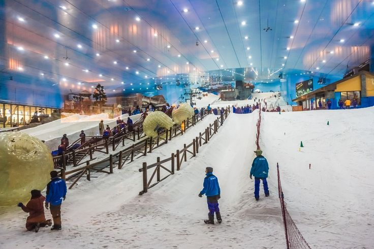 Mall of the Emirates hosts the visitors with the largest indoor ski resort.