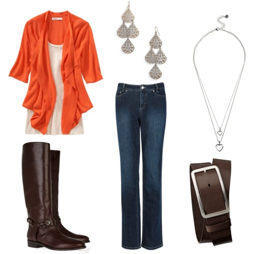 Fall Outfit...I would pick a different pair of jeans!!!
