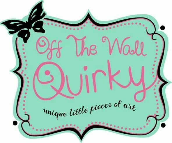 What a #quirky logo. Off the Wall Quirky -  Little pieces of art and craft. Please feel free to contact me with any questions or orders to offthewallquirky@gmail.com.