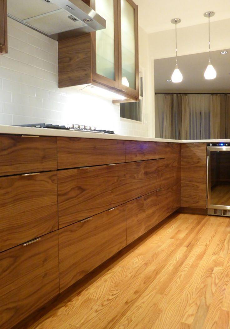 IKEA® Kitchen with Semihandmade Flatsawn Walnut fronts.