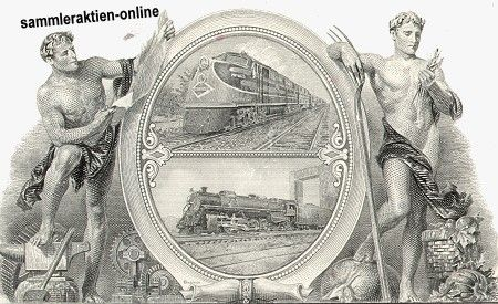Illinois Central Railroad Company 2-fach Lok Vignette - Hahn Historische Wertpapiere, alte Aktien und Sammleraktien, gedruckte Schmuckaktien, Aktienbilder, Anleihen, Obligationen, Schuldverschreibungen