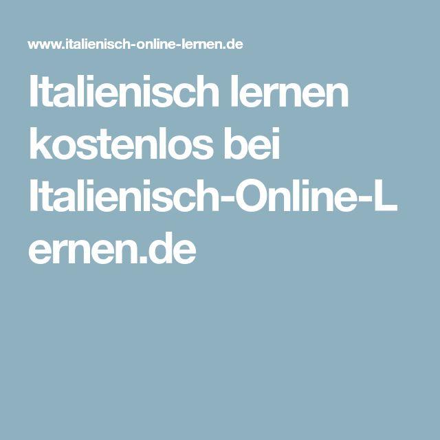 Italienisch lernen kostenlos bei Italienisch-Online-Lernen.de