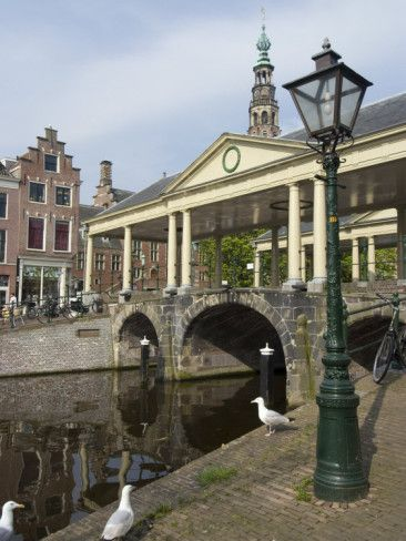 The Corn Bridge, Centre of the Old Town, Leiden, Netherlands, Europe Photographic Print by Ethel Davies at AllPosters.com