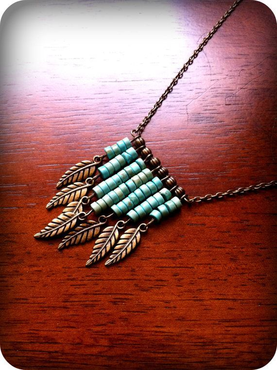 Found this beautiful necklace here. Here is how to make your own: You will need: • chain • clasp • 2 jump rings • 8 eye pins • 7 charms • 6 seed beads ...