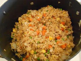 The Pub and Grub Forum: Fried Rice (I added cooked sesame marinated chicken with the rice)
