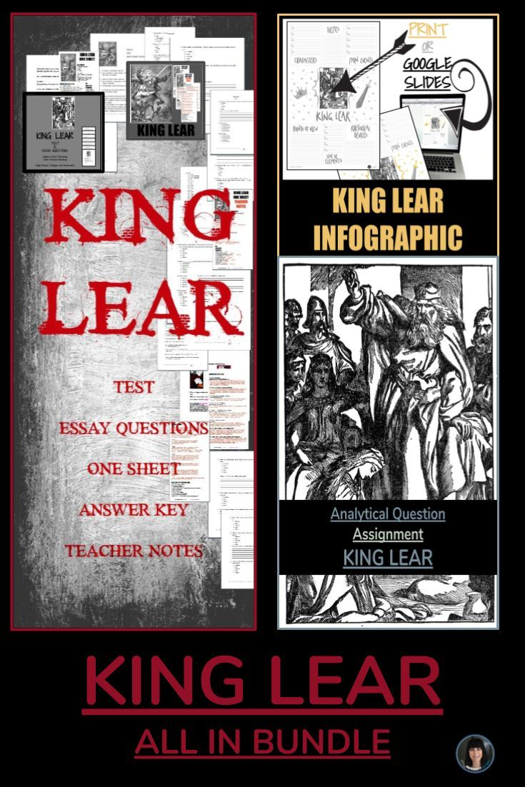 king lear all in bundle  language arts for all ages  middle  king lear all in bundle combined are five king lear products at a
