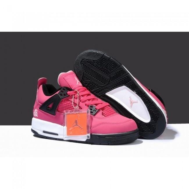 Particular Air Jordan 4 IV Women Shoes Peach/Black White 1008 http://