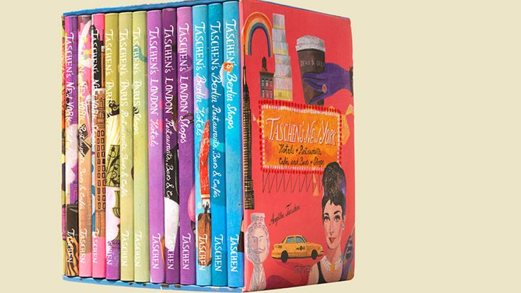 Following the success of its brilliant travel-guide series, Taschen now offers all 12 volumes - covering hot spots in Berlin, Paris, London, and New York - in a delightful boxed set.
