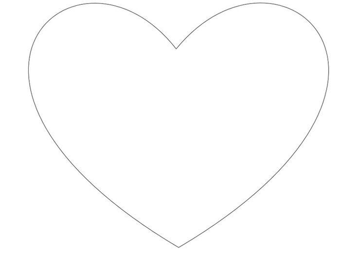 Kleurplaat eenvoudig hartje - Afb 13816.