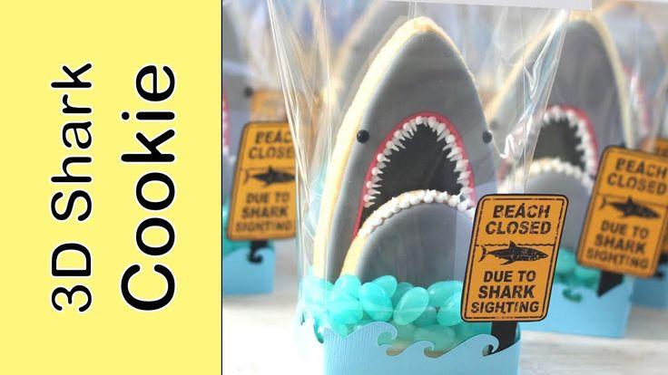 Shark Week 2014 cookies - How to make a shark cookie