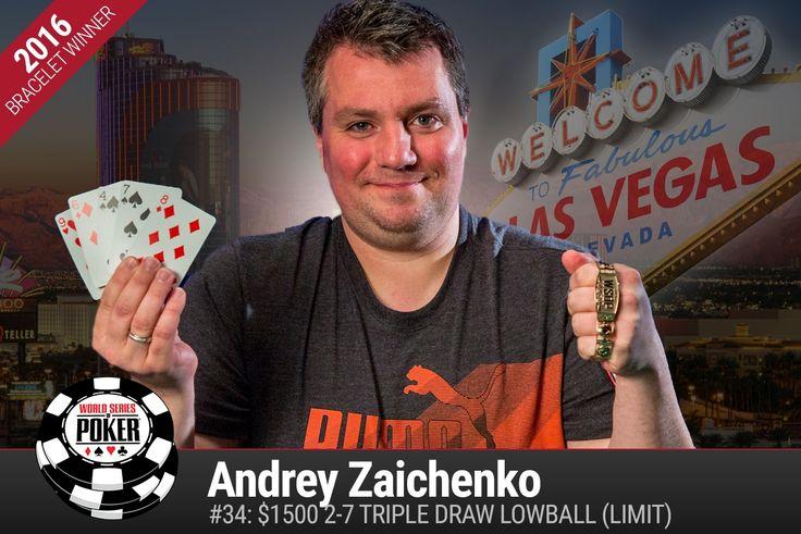 Российский профи Андрей Заиченко стал триумфатором турнира по лоуболлу 2-7 за $1,5 тыс. и получил свой первый золотой браслет WSOP.