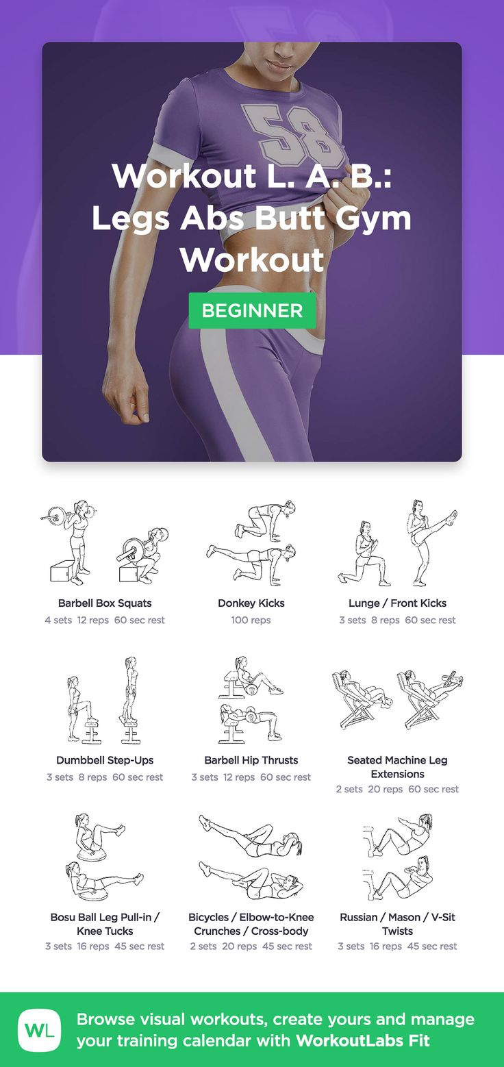 The Workout L. A. B.: Legs Abs Butt Workout by WorkoutLabs Fit · View and download printable PDF at https://workoutlabs.com/s/SHRwM