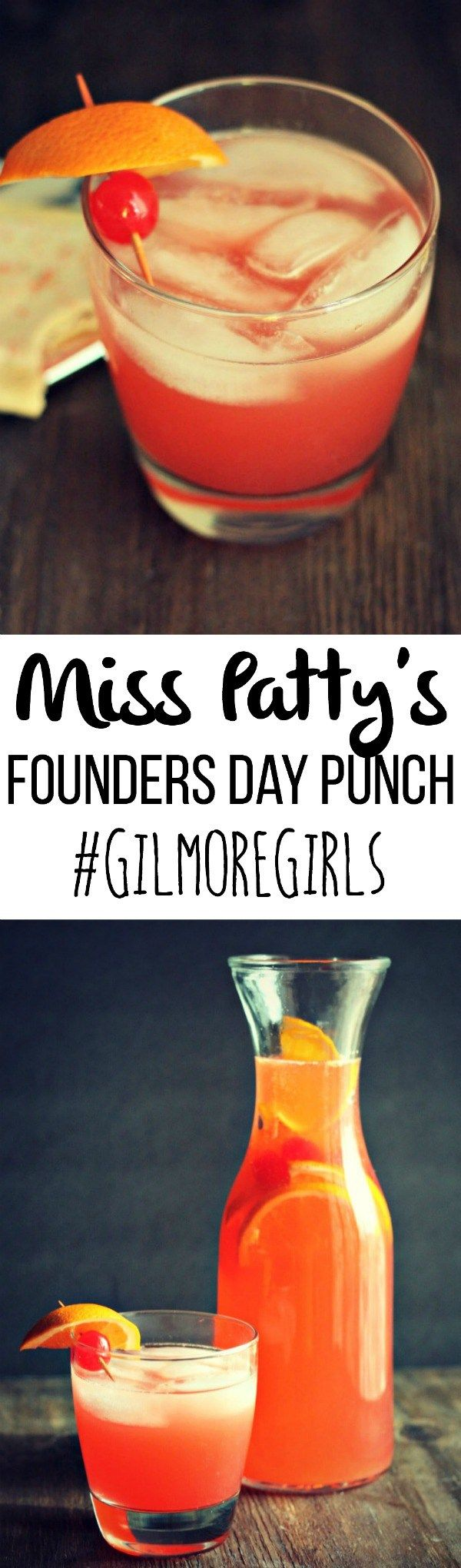 It's here: Miss Patty's Founders Day Punch! Any Gilmore Girls fan knows about this lethal punch--this is my twist just in time for the GG revival next week! via @DashOfEvans