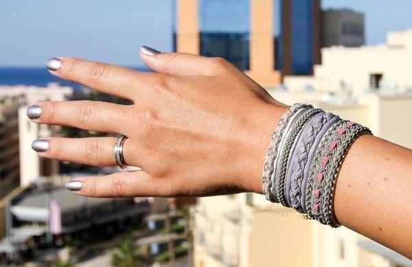 DIY Leather braided bracelet.