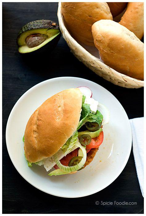 Mexican, tortas de milanesa, pork cutlet sandwiches, spicie Foodie