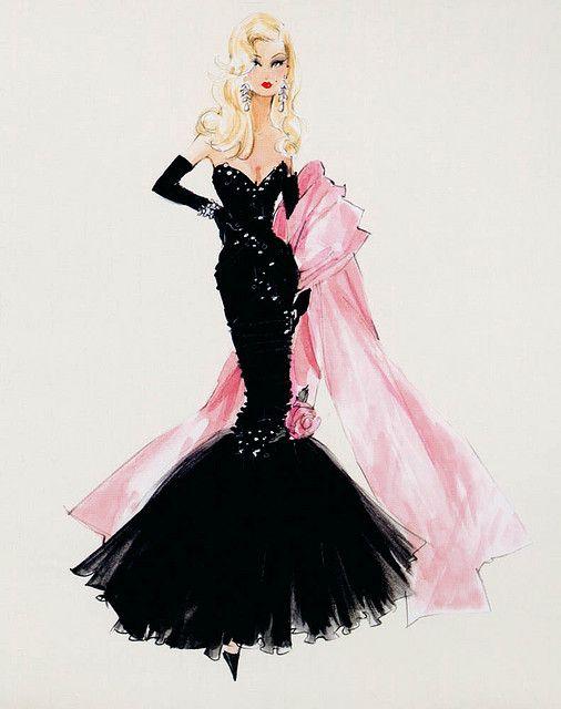 Barbie Stunning in the Spotlight sketch by Robert Best