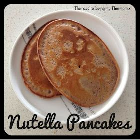 The road to loving my Thermomix: Nutella Pancakes