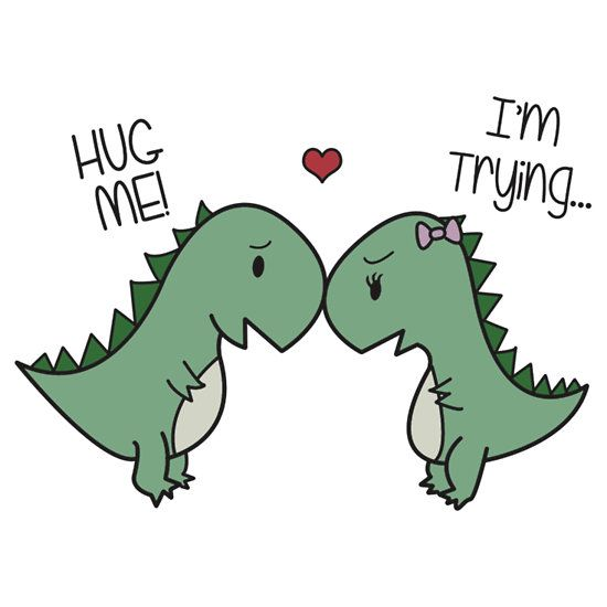 """Dino Love! (Hug Me!)"" T-Shirts & Hoodies by charsheee   Redbubble"