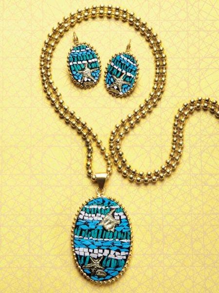 gold and turquoise - Sodini bijoux
