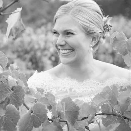 Alli on her wedding day at Minya Winery in Torquay - Photo by Agent 86 Photography