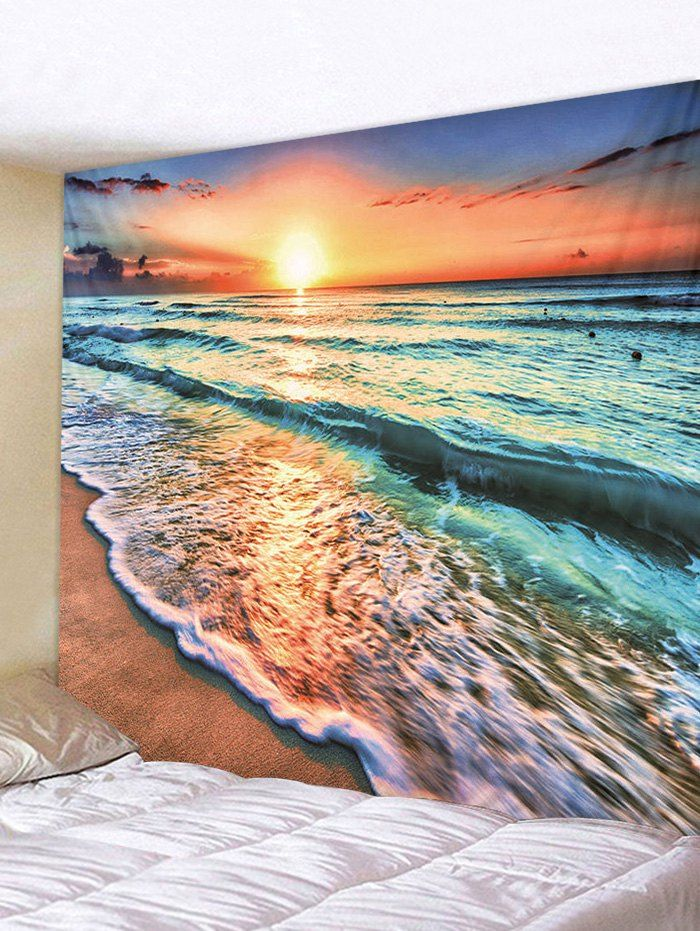 Wall Print Sunset over ocean Photo Art Wallpaper Mural Tapestry Decor 3D