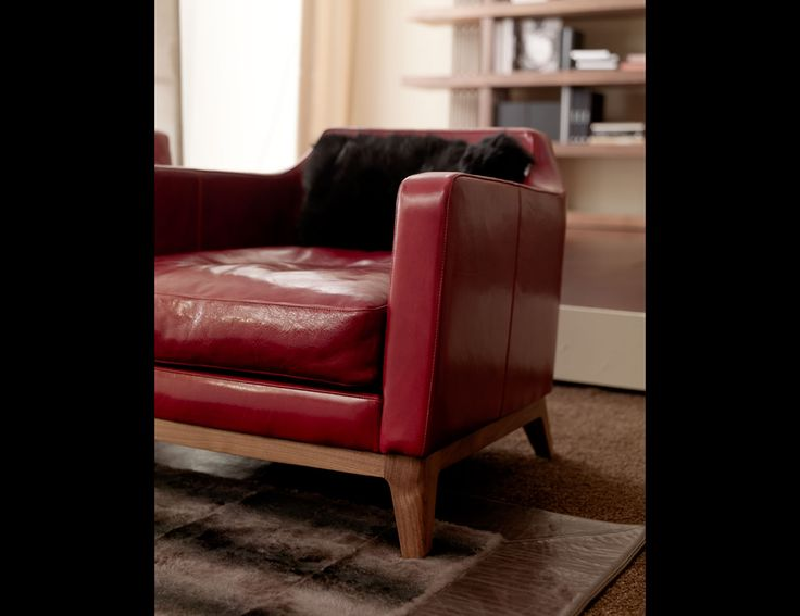 Margot Modern Italian Designer Occasional Chair Handmade With An American  Walnut Base And Shown In Red