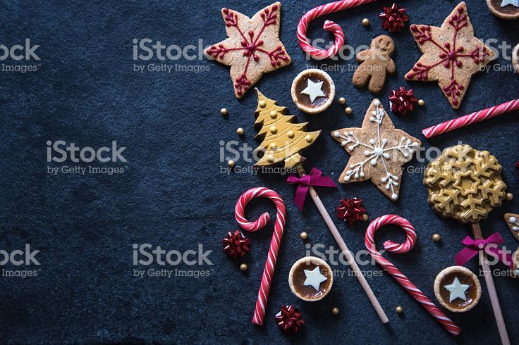 Christmas festive sweets food background royalty-free stock photo