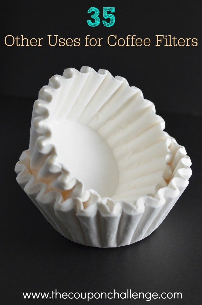 Did you know there are many other uses for coffee filters other than brewing your daily cup of Joe?  Take a look at 35 other uses for coffee filters and get more use out of those inexpensive filters.