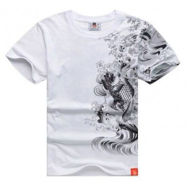 Koi Fish Yakuza T Shirt Japanese Tattoo Streetwear Hip Hop Swag Design