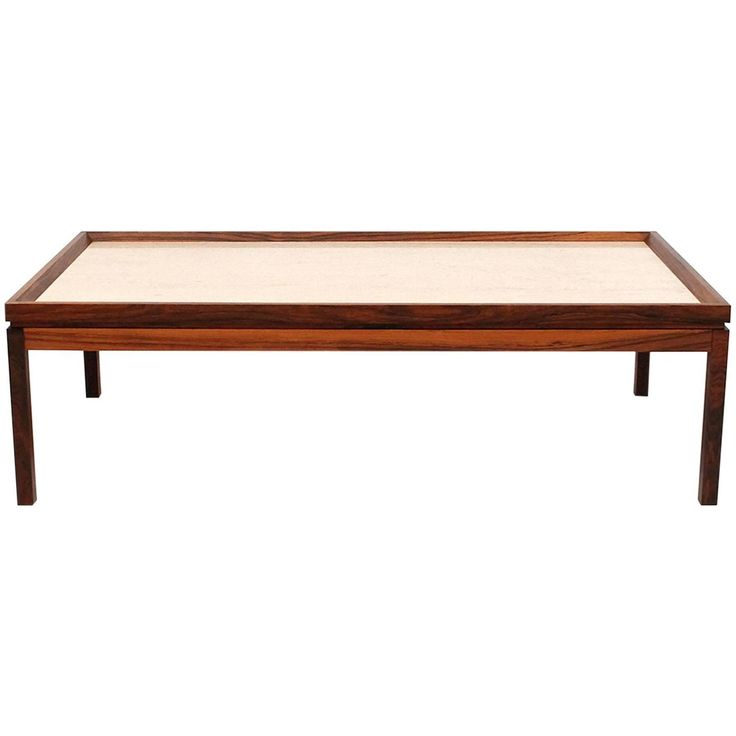 Danish Rosewood And Travertine Coffee Table