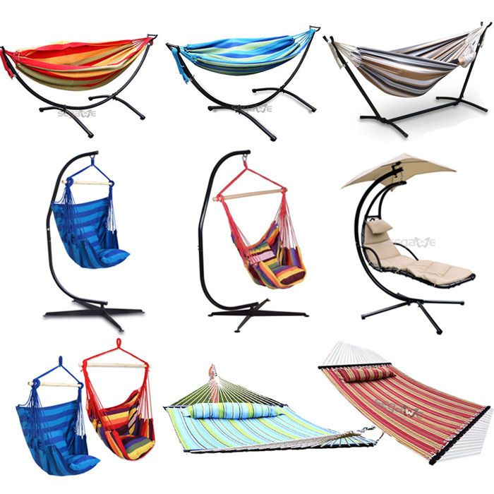 only $25 for the hanging chair! Heavy Duty Stand Hanging Swing Double Hammock Chair Canopy Indoor/Outdoor Patio