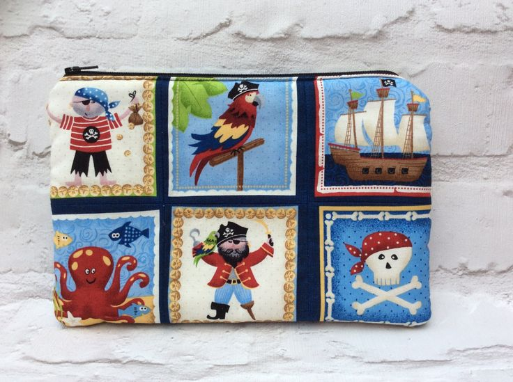 Pencil case, Gifts for boys, Pirate pencil case, Boys pencil case, School supplies, Large pencil case, Childrens pencil case by TotesByWendy on Etsy