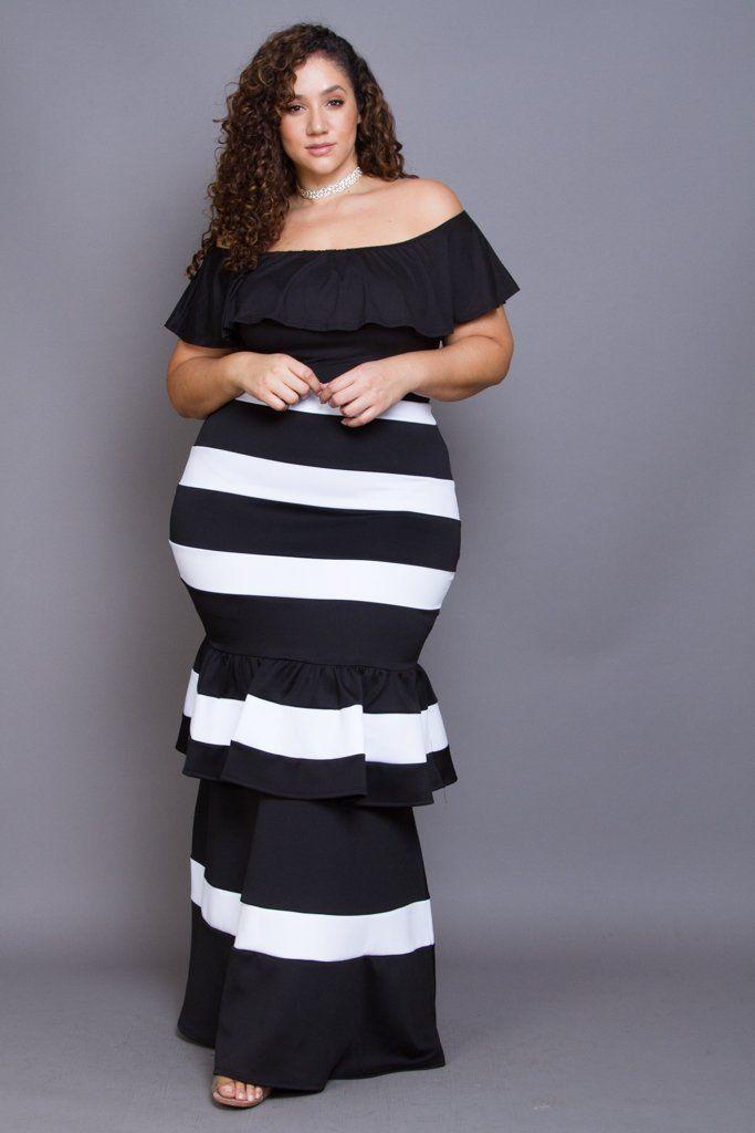 Plus Size Showstopper Mermaid Peplum Maxi Skirt in 2019 | Models ...