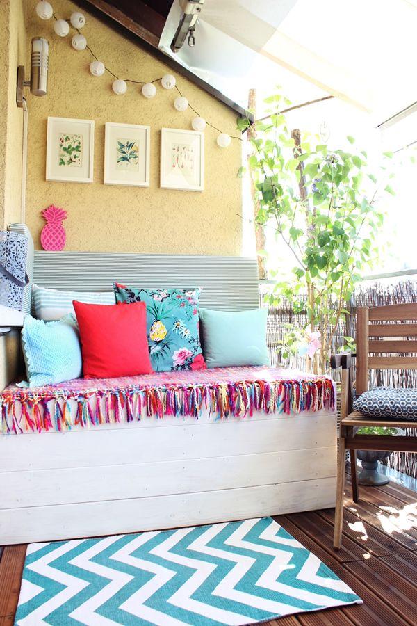 DIY Paletten Sitzcouch für draußen