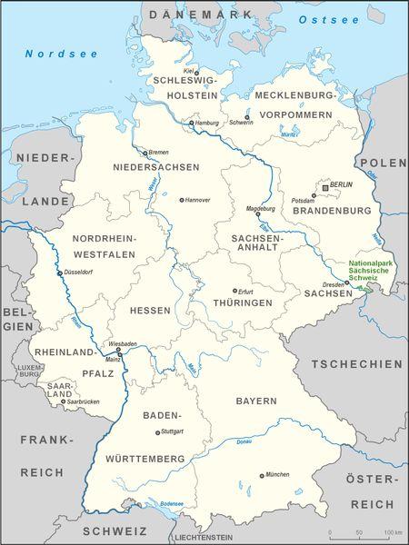 sächische Schweiz Karte