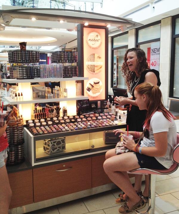 Mahya Mineral Makeup Kiosk Stonebriar Mall , Frisco TX