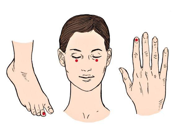 Klopfakupressur entlastet die Leber Die Akupressur beruht darauf, dass bestimmte Punkte stimuliert werden sollen, um so Schmerzen in anderen Bereichen des Körpers zu lindern. Beklopfen Sie mit der Kuppe des gestreckten Mittelfingers nacheinander je 5 Minuten sanft vier Akupressurpunkte: den Nagelfalzwinkel des linken Zeigefingers, beide Jochbeine, ca. 2 cm rechts und links neben der Nasenwurzel, und den Nagelfalzwinkel der zweiten linken Zehe.