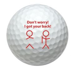 Dg Novelty Golf Balls - Gotcha Back