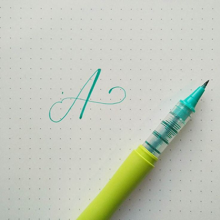 Im thinking about making alphabet again as many of you doing right now.. if you think you wanna see next ones give me comments guys would love to help you in your lettering journey..    here im using Zig Cocoiro on Muji dotted notebook . . . #handlettering #brushlettering #brushcalligraphy #alphabet #letteringalphabet #abcs_a #letterarchive_a