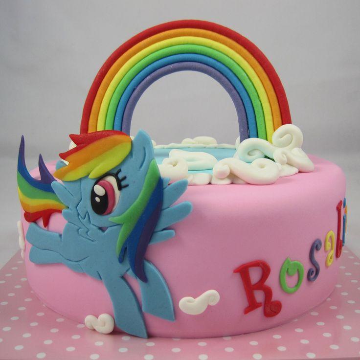 My little Pony Cake Rainbow Dash cake cake my little pony cake birthday party cake girl pink blue rainbow cookie cupcake