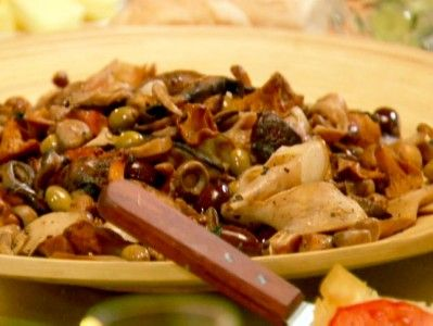 Warm Salad of Mushrooms and Speck-- chuck huges
