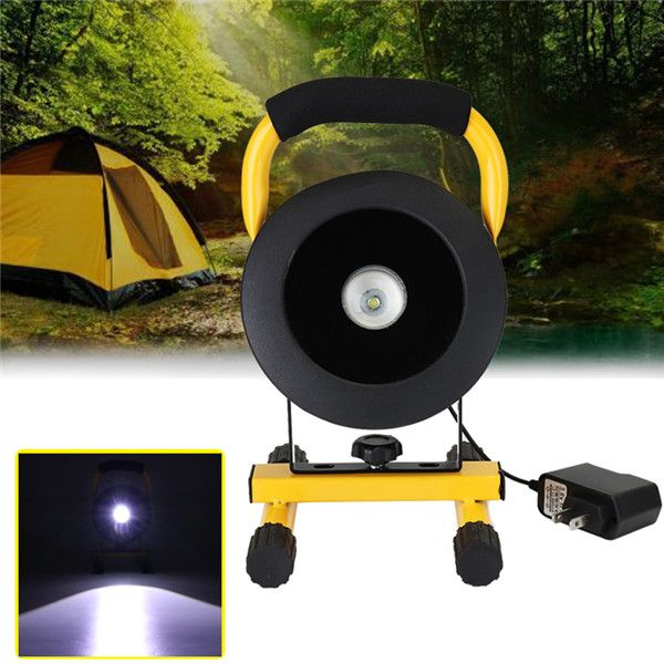 30W Portable Adjustable Rechargeable LED Flood Light IP65 Outdoor Emergency Camping Lamp AC110-220V
