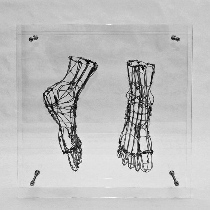 Человеческие органы из проволоки. Скульптуры Federico Carbajal